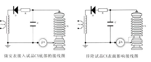 避雷器泄漏电流的接线图