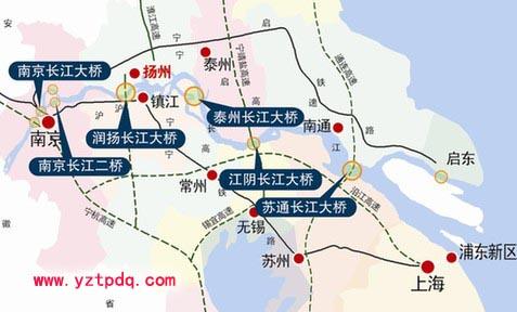 从扬州到上海,常州,走泰州大桥不划算