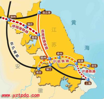泰州至汉口铁路地图