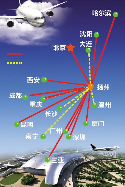 扬州泰州机场拟增银川郑州航线